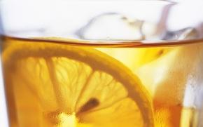Picture Drops, Lemon, Ice, Drink