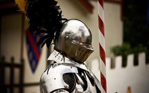 Picture metal, armor, feathers, warrior, helmet, knight