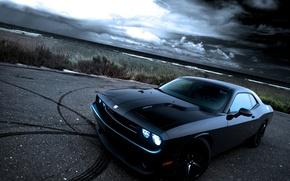 Picture black, drift, dodge, challenger