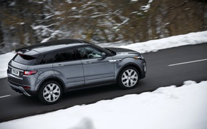 Picture road, car, machine, snow, speed, Land Rover, Range Rover, road, Evoque, Autobiography
