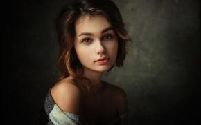 Picture portrait, the beauty, Lisa, brown-eyed, Dennis Drozhzhin