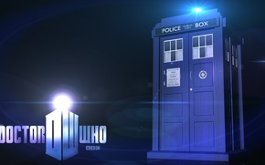 Picture background, logo, Doctor Who, Doctor Who, The TARDIS, BBC, TARDIS, Police Box, Police Box