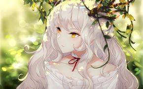 Wallpaper art, girl, anime, portrait