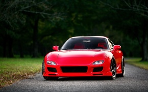 Picture red, Mazda, red, front, Mazda, RX-7