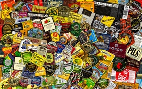Picture texture, background, Beer Labels