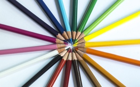 Picture colorful, rainbow, pencils