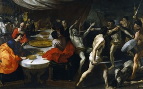 Wallpaper picture, Giovanni Lanfranco, The Gladiators in the party