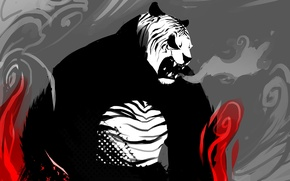 Picture anger, tiger, art, Panda