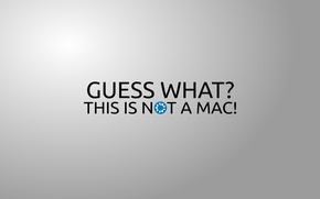 Wallpaper the inscription, minimalism, words, minimalism, words, 2560x1600, lettering, guess what? this is not a mac!