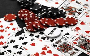 Wallpaper card, chips, Casino, poker