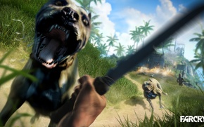 Picture Fire, Knife, Far Cry 3, Dogs