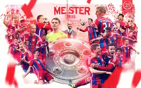 Picture wallpaper, sport, team, football, Champions, FC Bayern Munchen, Bundesliga, players, Championship, trainer