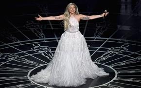 Picture girl, style, dress, actress, singer, celebrity, fashion, Lady Gaga, Lady Gaga, Academy Awards, Tribute, Oscars, …