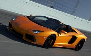 Picture speed, track, roadster, LP700-4, Lamborghini, aventador, Lamborghini Aventador