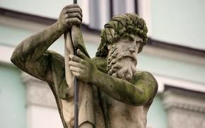 Picture statue, Czech republic, Liberec, Neptun