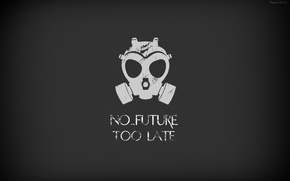 Picture gas mask, the end of the world, cataclysm