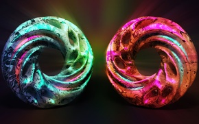 Picture color, glow, spiral, the volume
