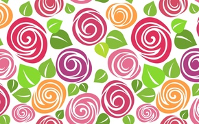Picture flowers, paint, Wallpaper for desktop, background, white, HD wallpapers, background bright, petals, texture