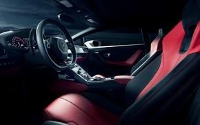 Picture interior, Lamborghini, white, salon, front, dashboard, LP 610-4, Huracan, Ronaldo Stewart, LB724