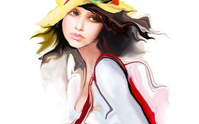 Picture look, face, figure, vector, hat