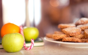 Picture apples, food, cookies, candy, lollipops, fruit, cakes