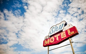 Picture the sky, sign, sky motel