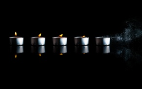Picture time, fire, smoke, candle, © Ben Torode