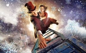 Picture winter, Christmas, hat, ladder, Doctor Who, series, Doctor Who, Matt Smith, Matt Smith, Jenna-Louise Coleman, …