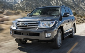 Picture road, mountains, jeep, SUV, toyota, the front, Toyota, land cruiser, 200, kruzak, cruiser, land cruiser