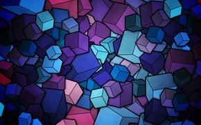 Picture color, cubes, vector, figure