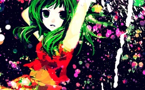 Picture girl, art, Vocaloid, Vocaloid, Rubber Megpoid, Gumi, meola
