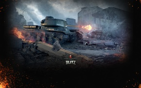 Picture Fire, Iron, Trunk, Flame, Tanks, Panther, World of Tanks, World Of Tanks, Wargaming Net, Medium ...