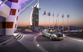 Picture fountain, Mercedes, Maybach, Pullman, S600, 2016