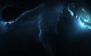 Picture space, light, lights, space, lights, darkness, glow, stars, art, space, light, abyss, nebula, art, glow, …