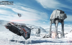 Picture star wars, star wars, battle, the battle, the rebels, Electronic Arts, dice, at-at, hot, FPS, …