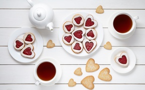 Picture heart, food, valentine's day, breakfast