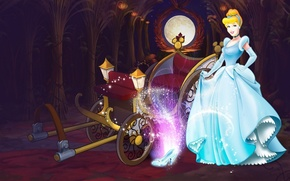 Picture lights, tale, dress, pumpkin, coach, Halloween, Disney, twilight, Cinderella, Disney, Cinderella, special edition, the glass …