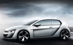 Picture Concept, the sky, background, Volkswagen, car, Golf, GTI, Design Vision