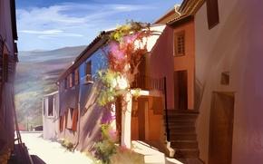 Picture street, home, art, Portugal, town, Sunny, Anastasia Bulgakova