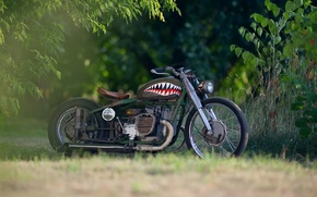 Picture blur, base, motorcycle, steampunk, airbrushing, moto, bike, style, collection, custom, bokeh, steampunk, heavy, Soviet, rat, …