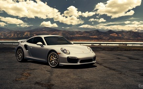 Wallpaper 911, Porsche, silver, before, Porsche, front, Turbo, silvery