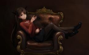 Picture fate stay night, anime, art, rin tohsaka