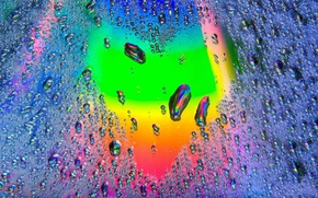 Picture Drops, Heart, Rainbow