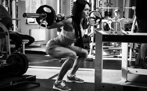 Picture legs, woman, gym, crossfit, weight lifting