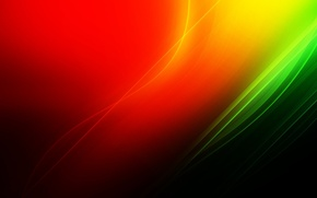 Picture orange, red, green, A riot of colors