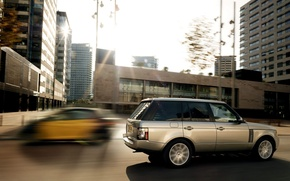 Picture the city, speed, blur, Land Rover, Range Rover
