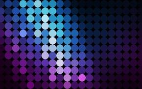 Picture circles, texture, blue-purple