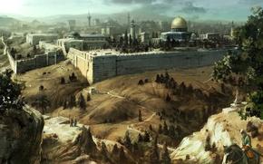 Picture mosque, assassins creed, Jerusalem