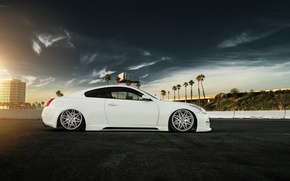 Wallpaper g37, infiniti, car, tuning, low, stance, white