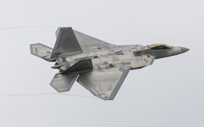 Picture flight, fighter, Raptor, Lockheed, F-22A